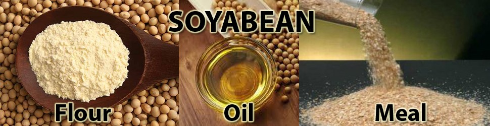 Soyabean meal, oil and flour